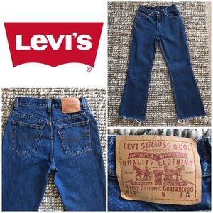 Vintage Levis 517 Raw Edge Hem Jeans Size 5
